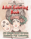 Adult Coloring Book: 20 Magic Anti-Stress Zodiacs For Coloring