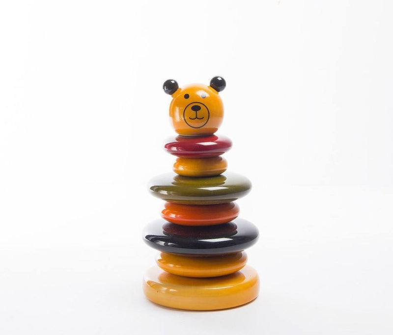 Stacking wooden eco friendly toys