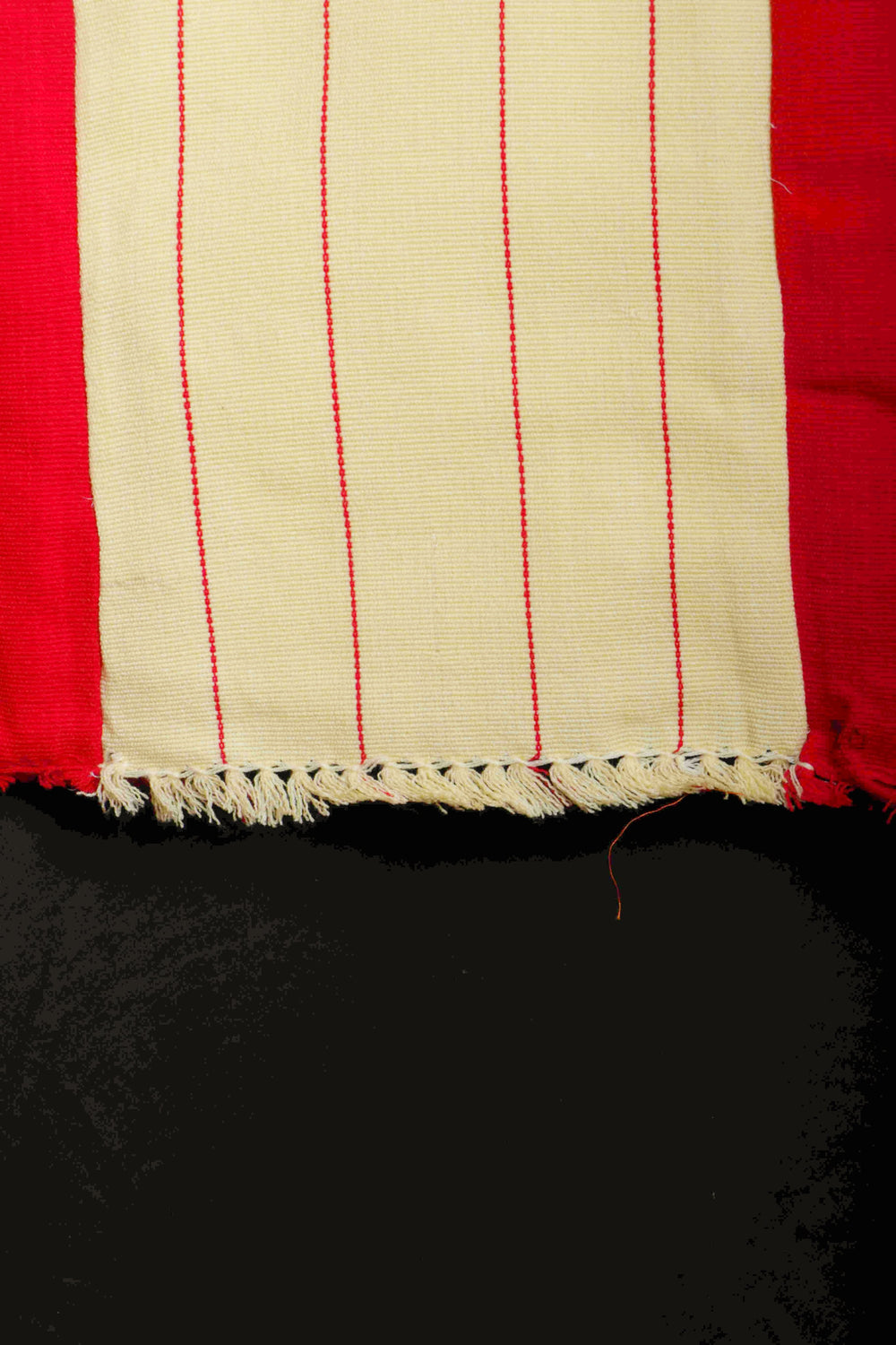 Cream and red Naga shawl and dupatta