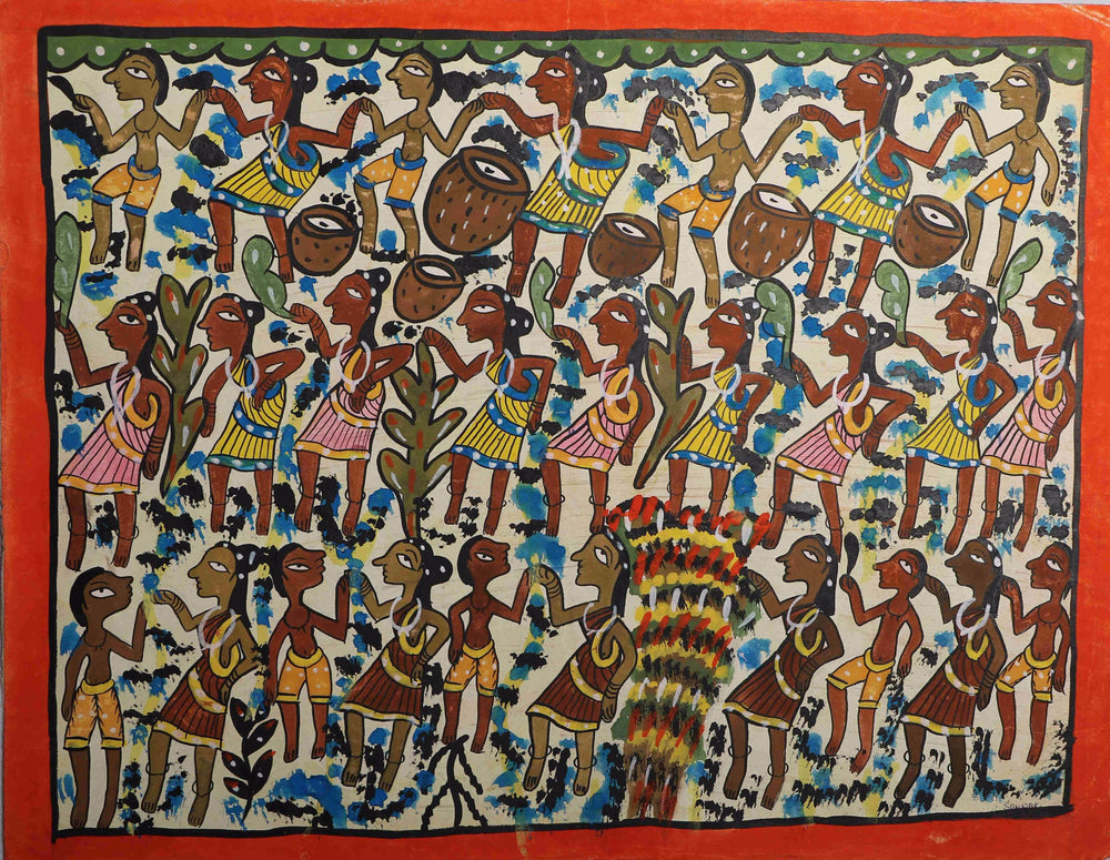 Patachitra harvest painting folk art