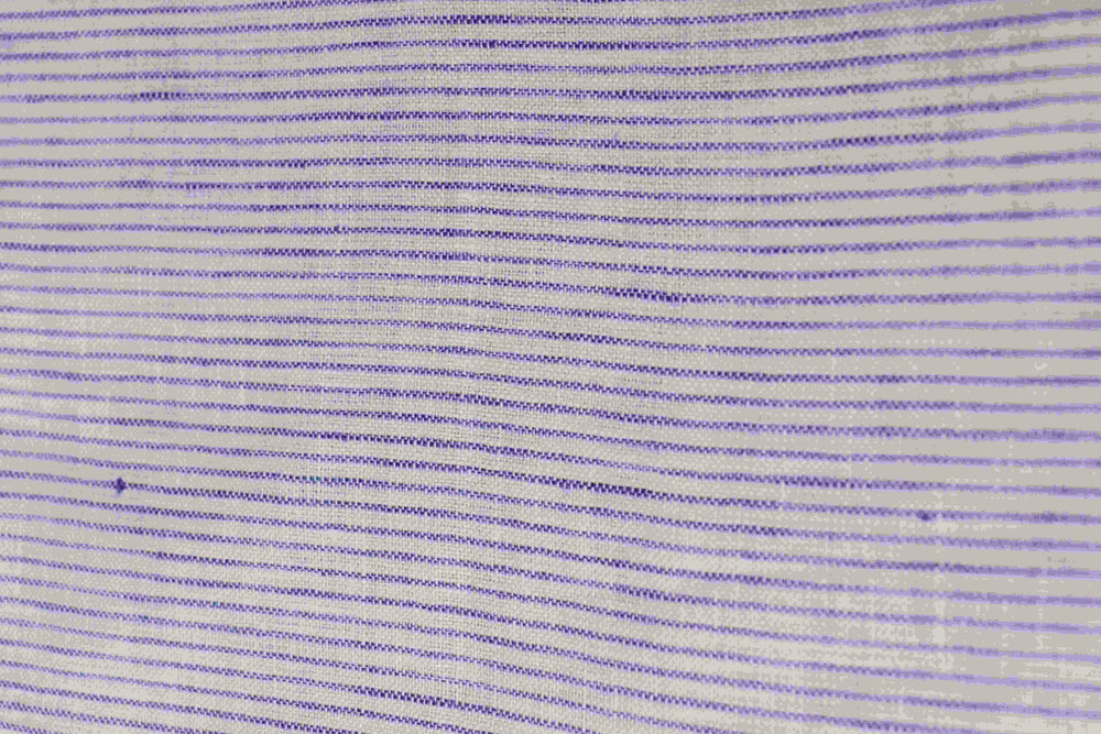 "100% Natural linen fabric with blue lined motif and 56"" width"