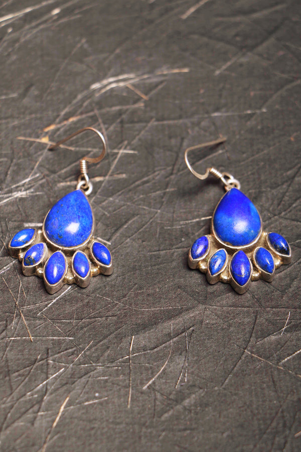 Blue Nile 925 silver earrings with precious stones