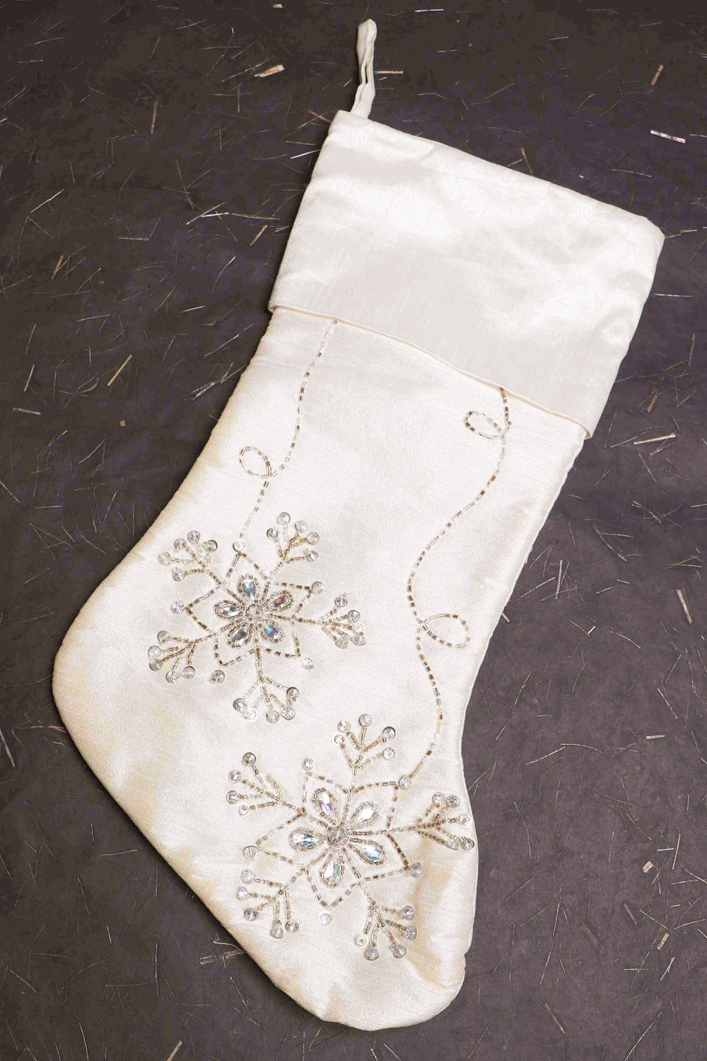 white christmas stocking