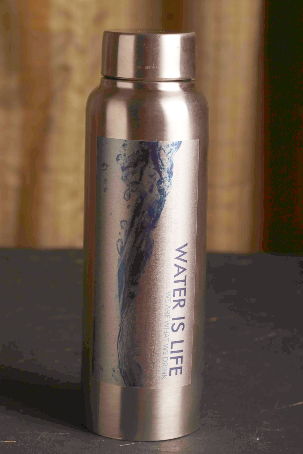 smart water is life steel water bottle 750 ml