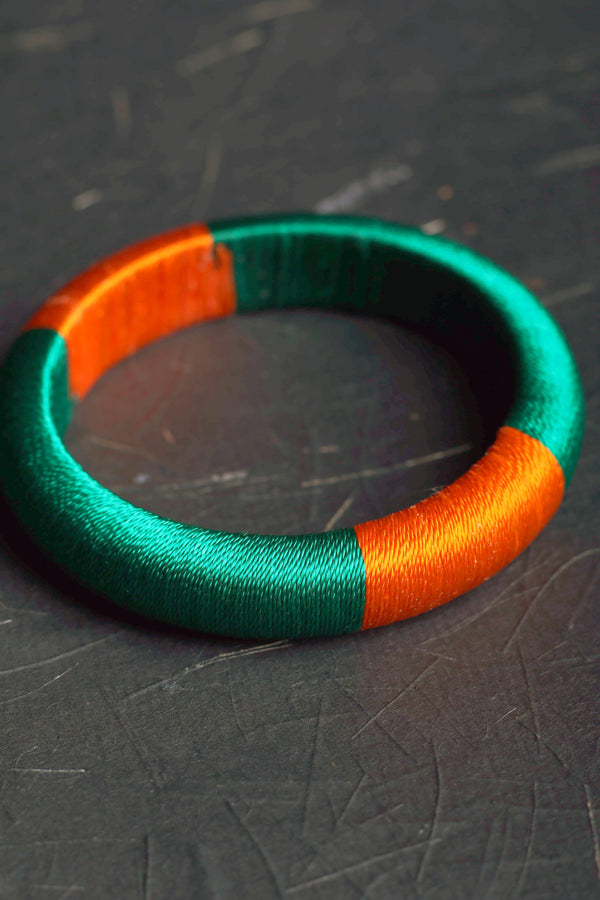Churi series color block II threaded bangle