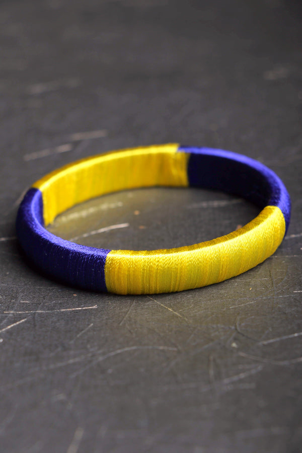 Churi series color block I threaded bangle