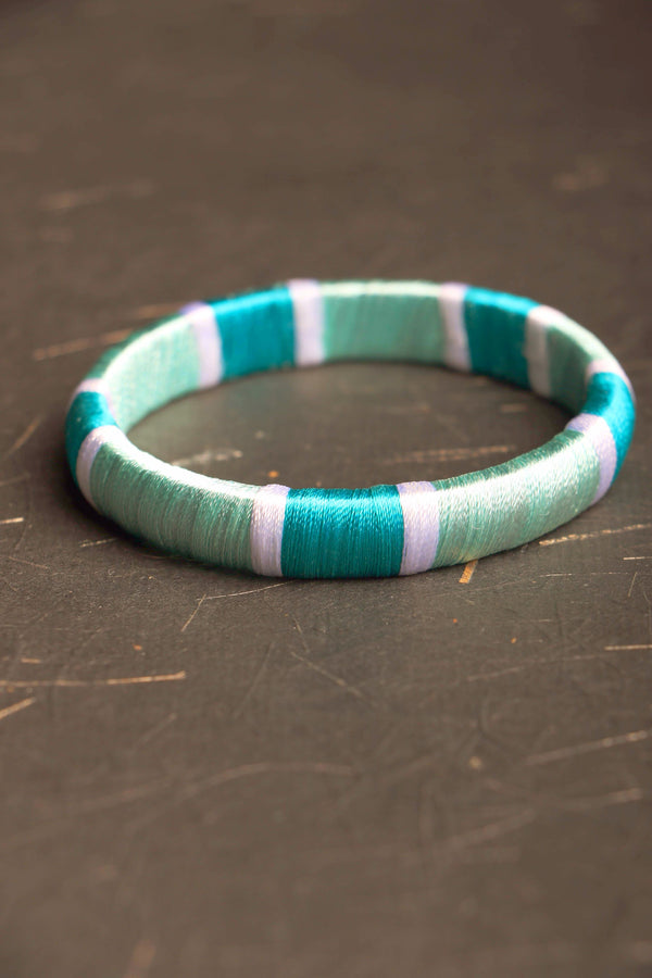 Churi series Silk block I threaded bangle