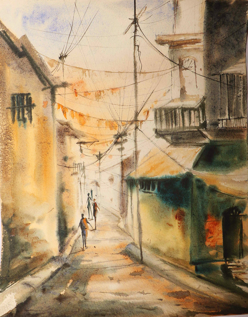 Watercolor Landscape Wall Art Streets