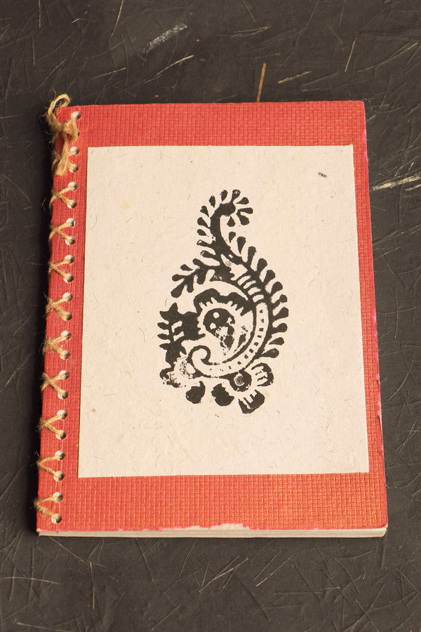Chaap series Paisley II block print notebook small
