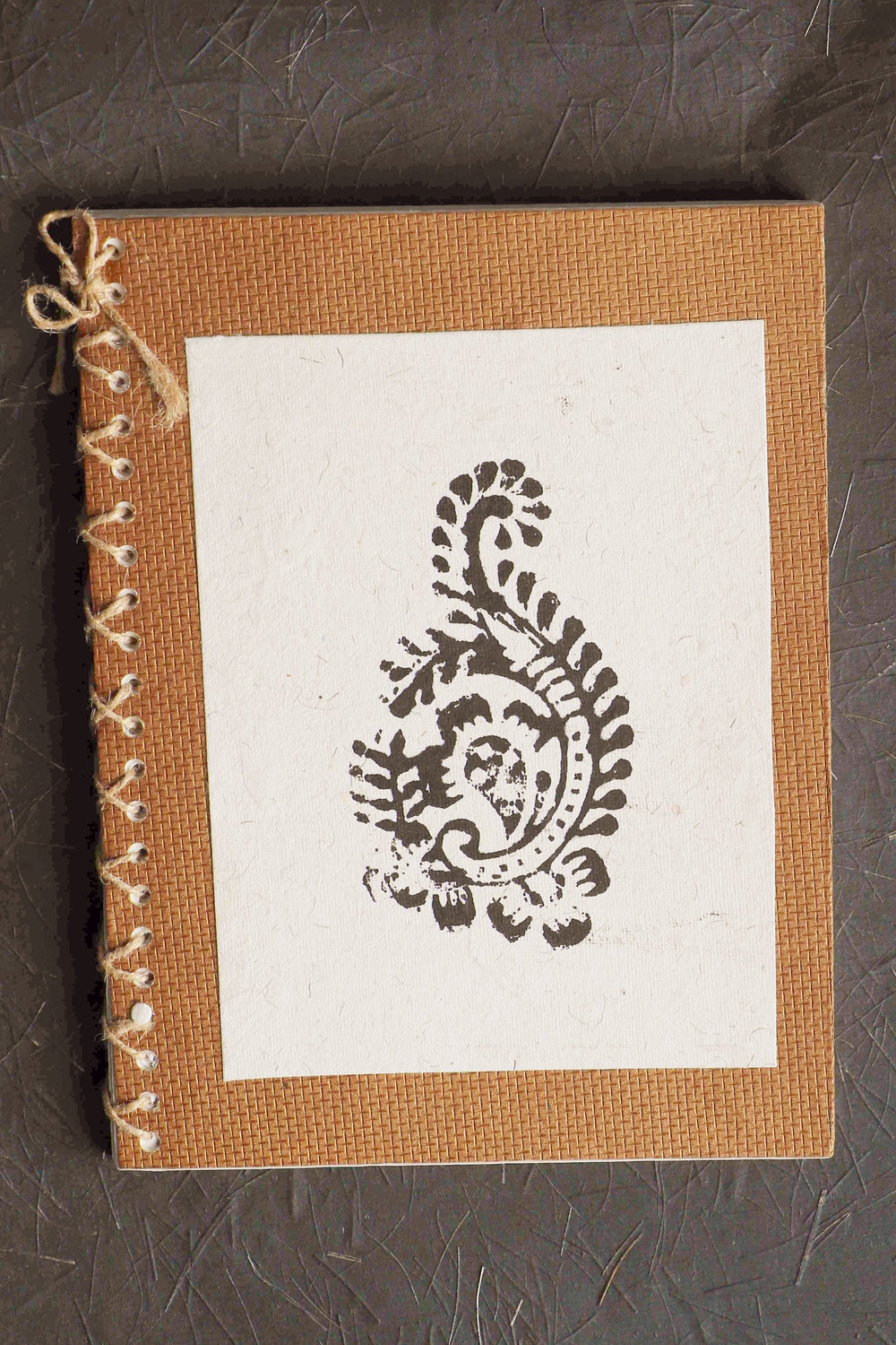 Chaap series Paisley I block print notebook small