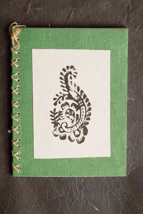 Chaap series Paisley IV block print notebook small