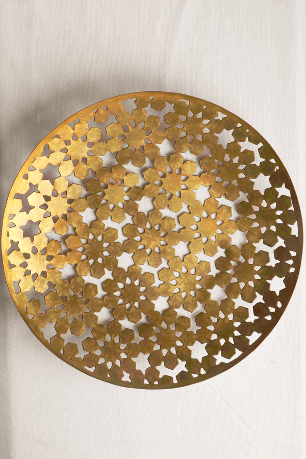Copper connect series Jali round tray