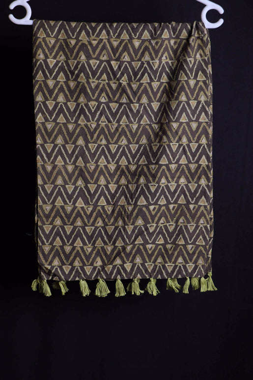 Coney Lines II Sujani embroidered cotton stole