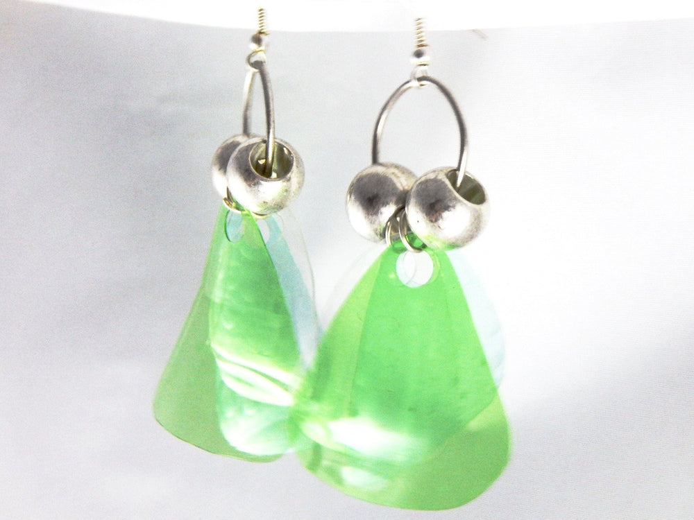 Upcycled series pet bottle VI earrings a