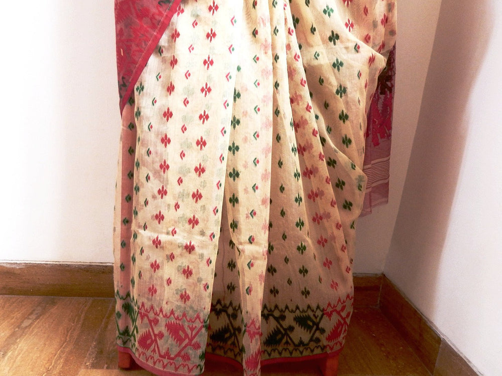 Bengal weaves series featherlight VII jamdani saree c