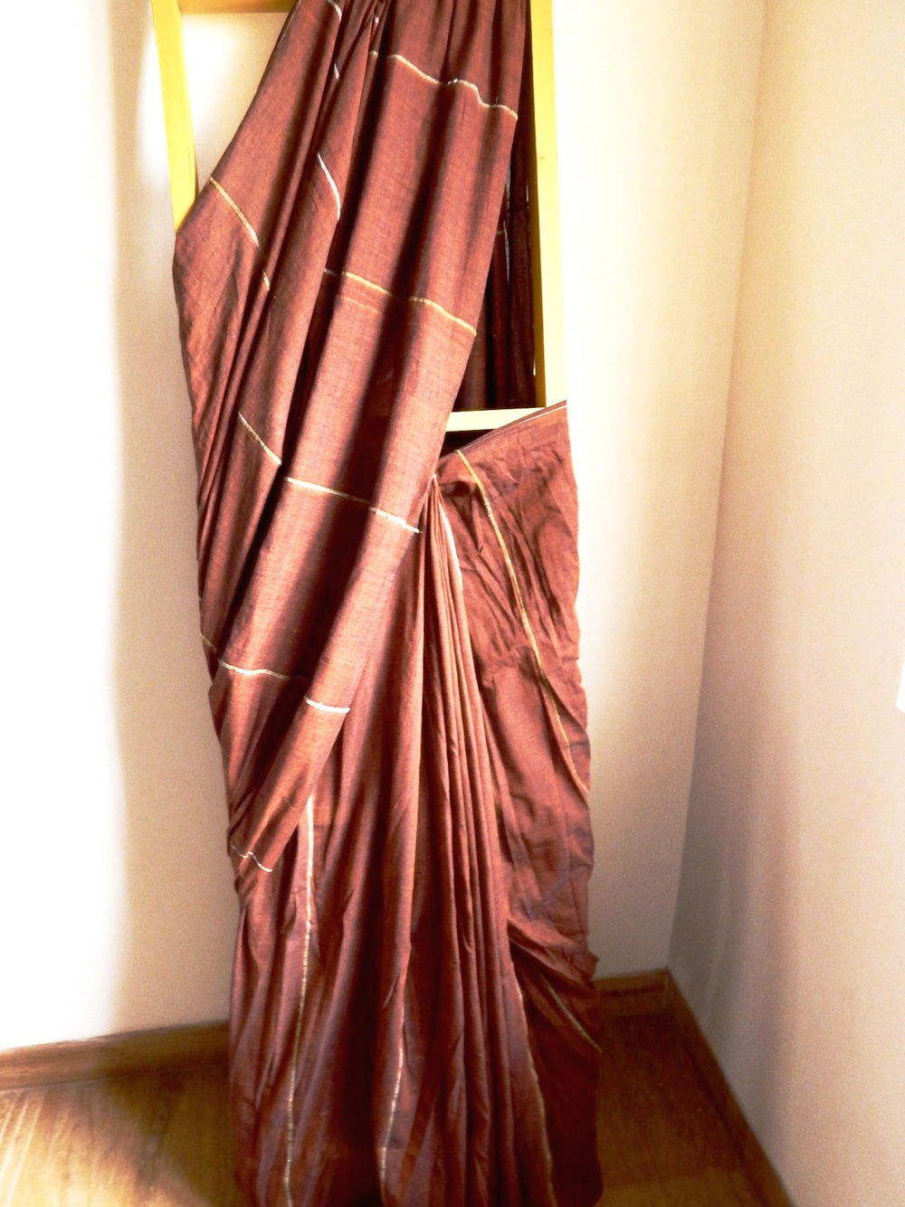 Bengal weaves series featherlight III cotton hand loom saree a