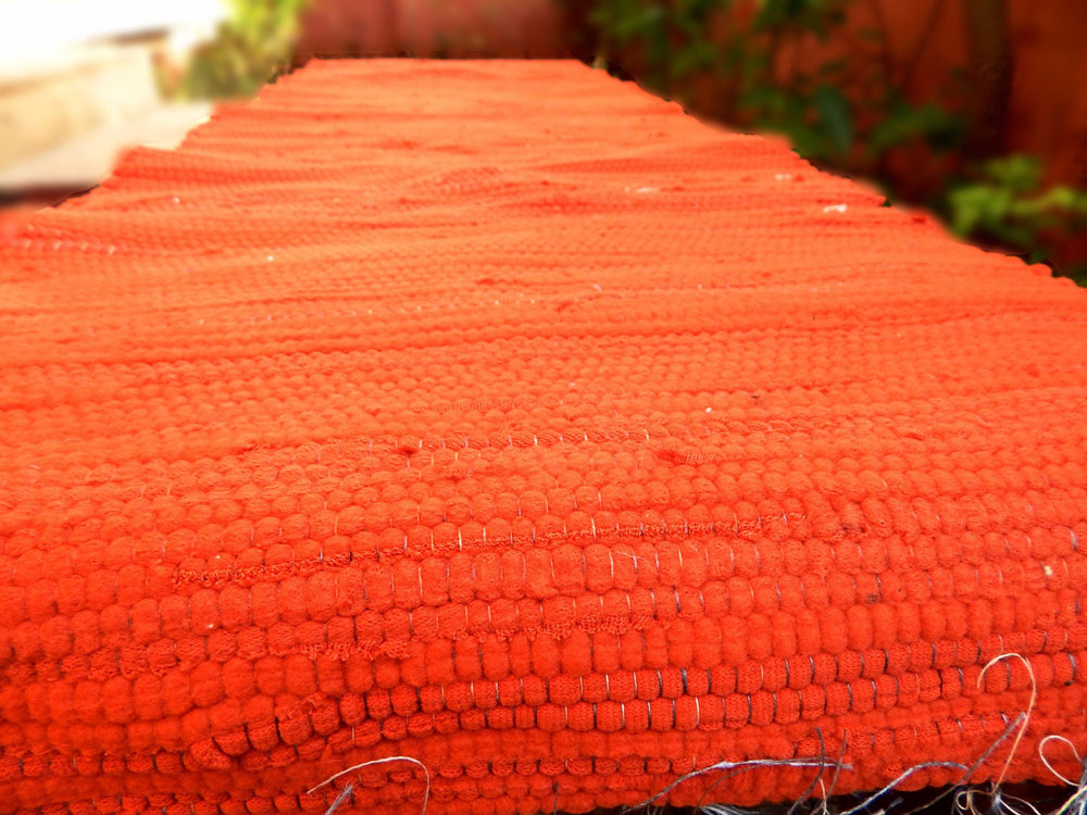 Upcycled series rangeela VI table runner or bed footer mat