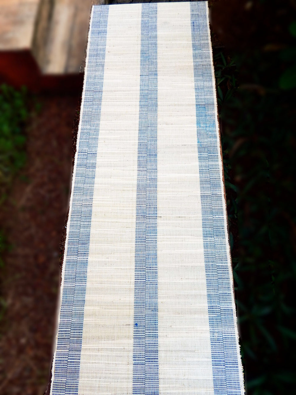 Natural fibre series Braidit I table runner or bed footer mat a