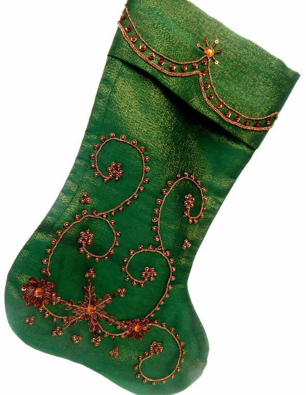 Advent series floral twines III Xmas stocking a