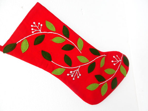 Advent series flower power III Xmas stocking c