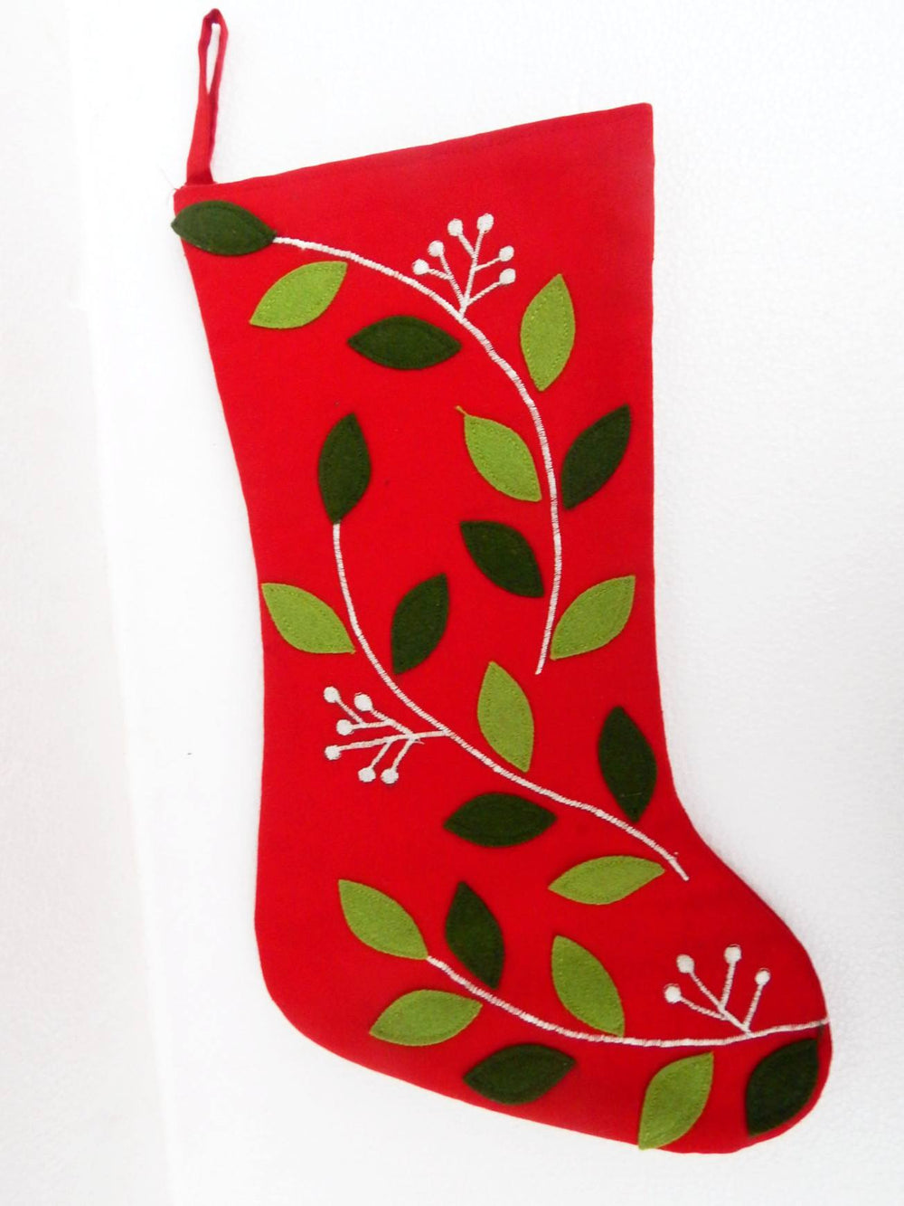 Advent series flower power III Xmas stocking a