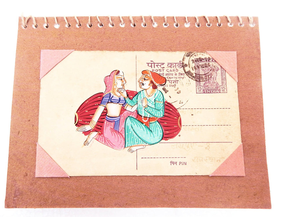 Postcard series Couple I notebook small a
