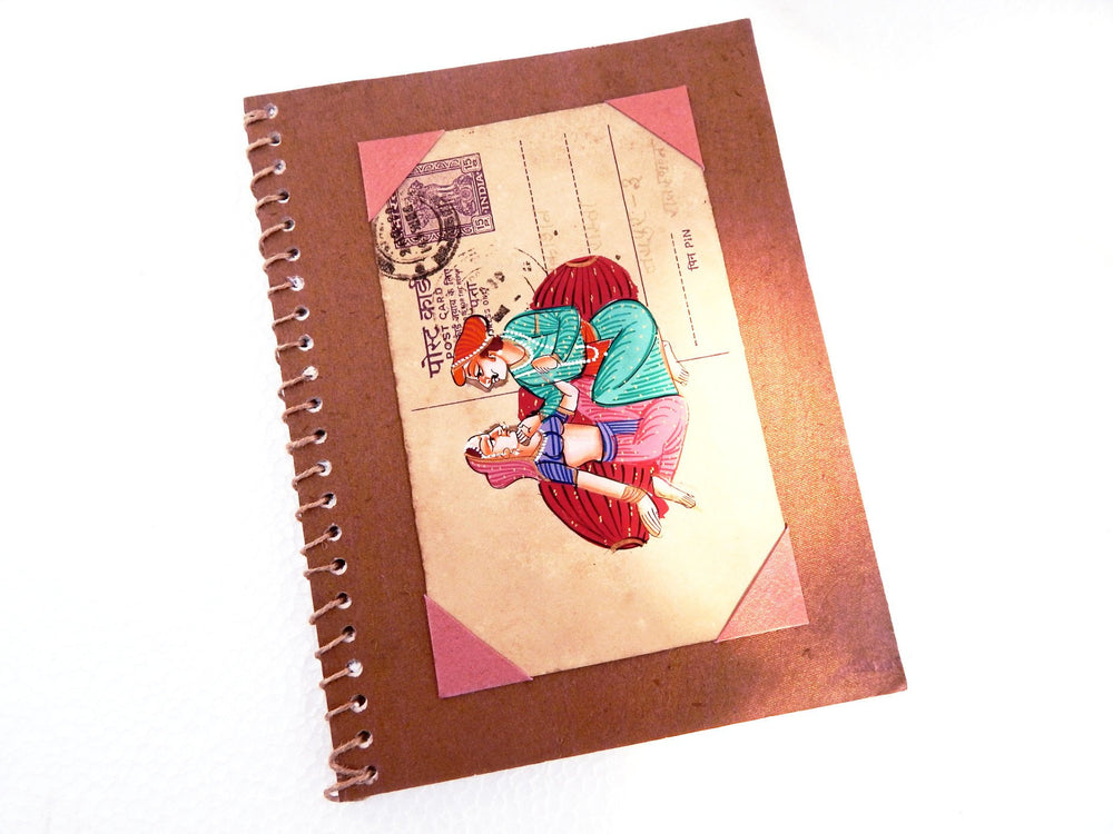 Postcard series Couple I notebook small c