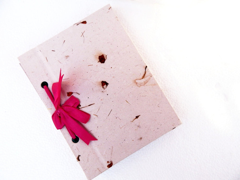 Ribbon I straw mottled paper diary a