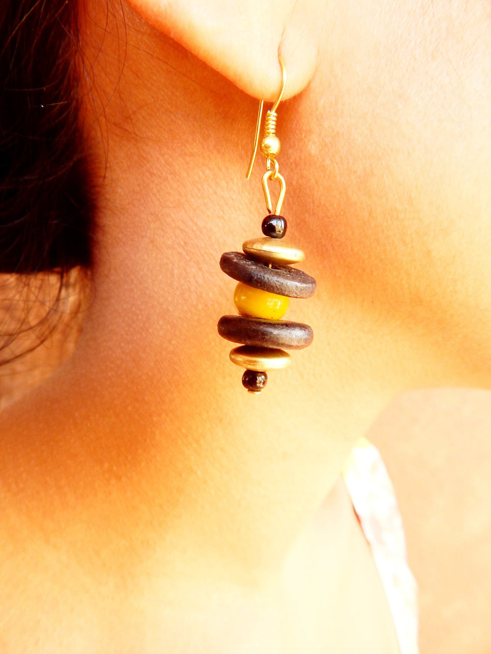 Tribal Gypsy series bead Cairn VI earrings a