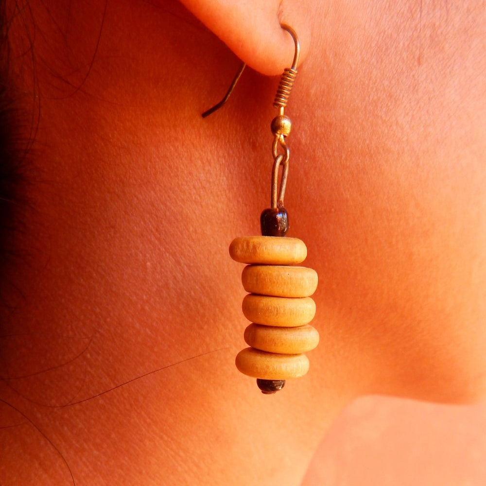 Tribal Gypsy series bead Cairn II earrings a