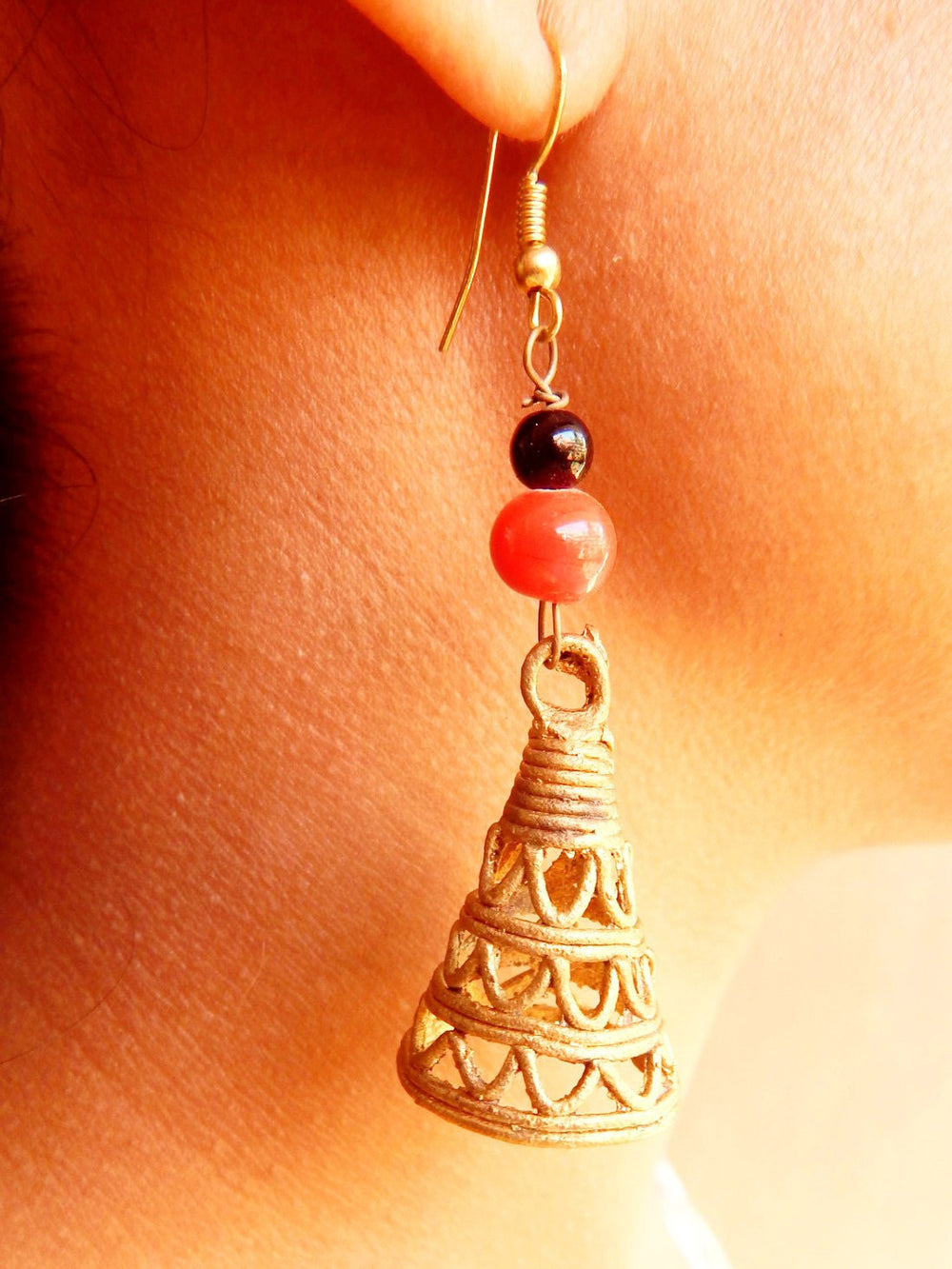 Tribal Gypsy series Zhumka dokra I earring a