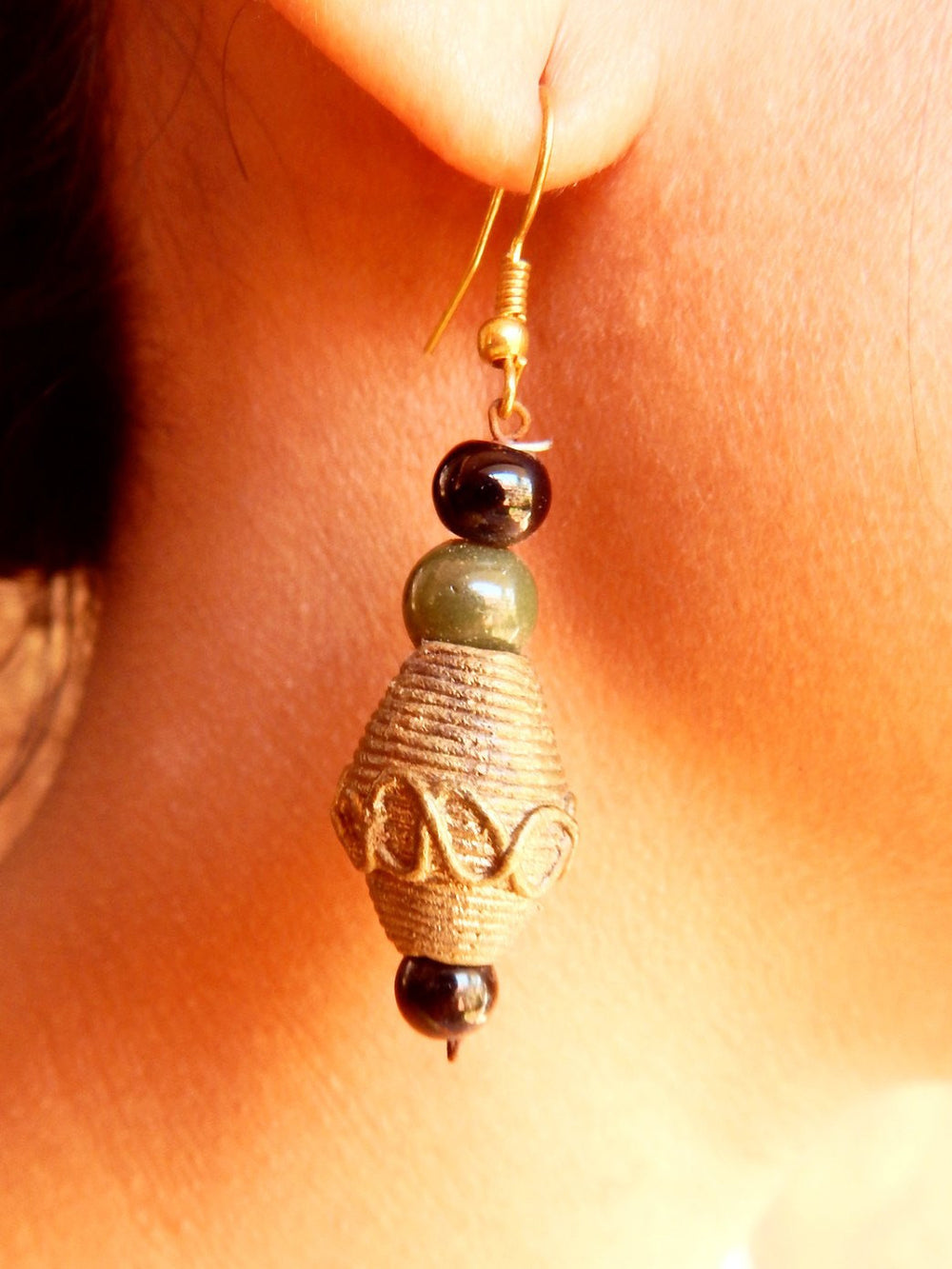Tribal Gypsy series Bali dokra II earring a