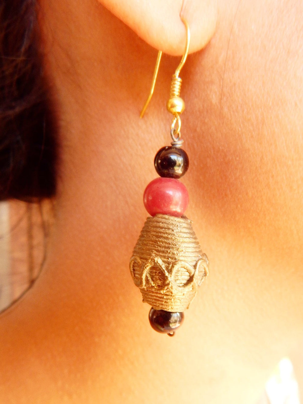 Tribal Gypsy series Bali dokra I earring a