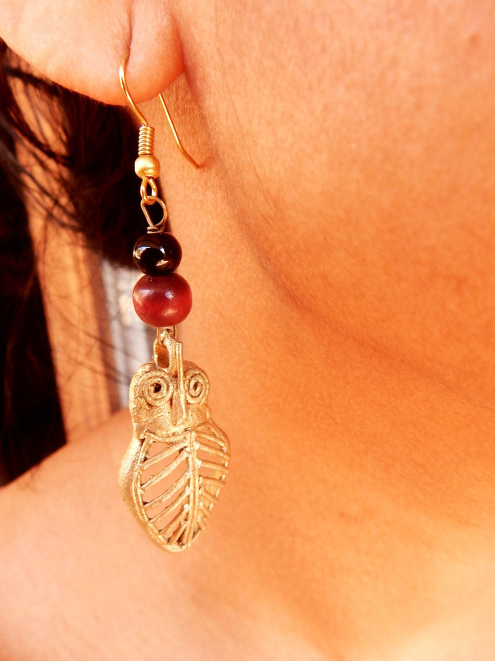 Tribal Gypsy series Ullu dokra I earring a