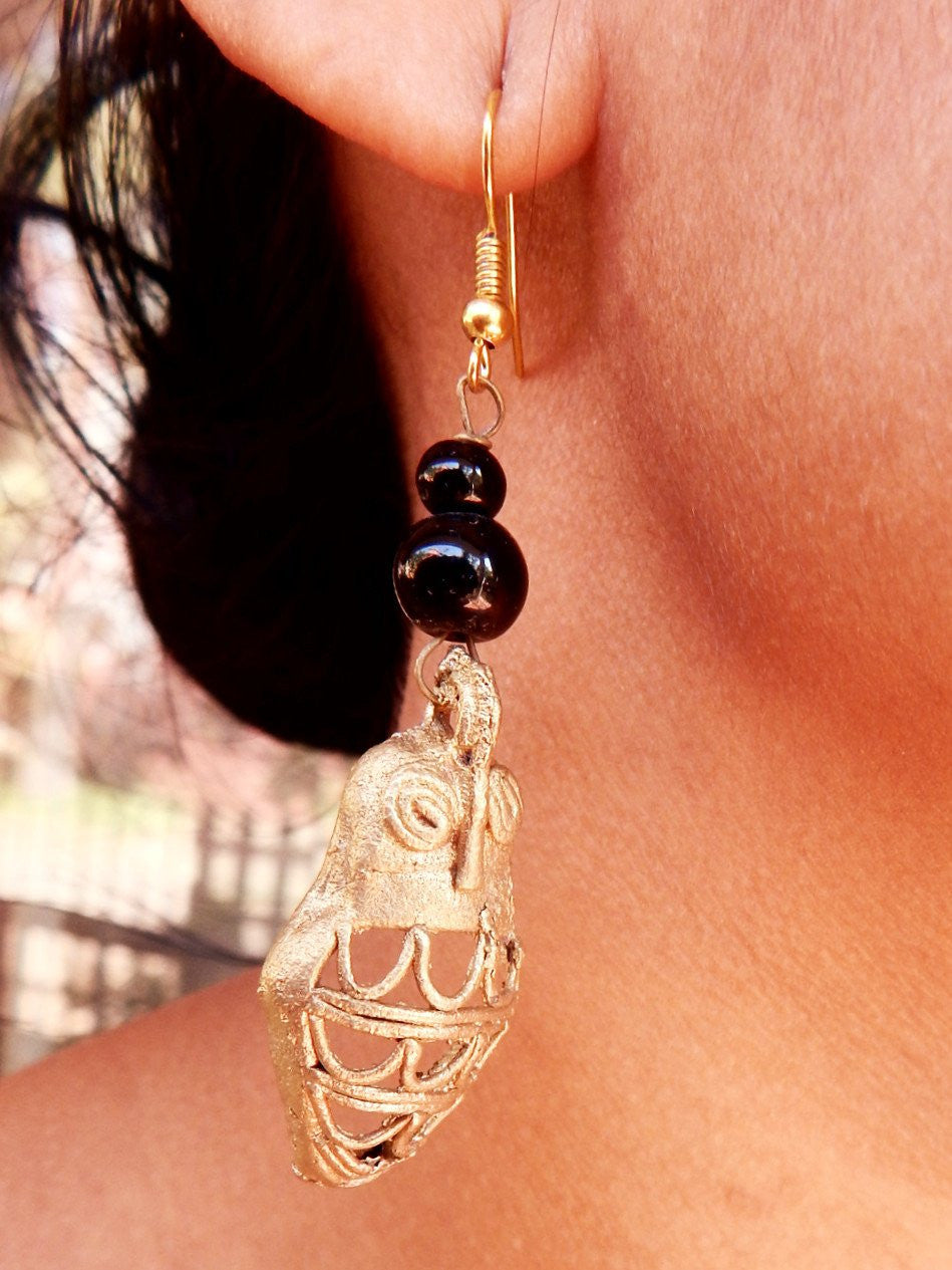 Tribal Gypsy series Ullu dokra II earring a