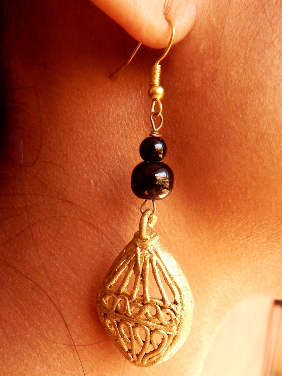 Tribal Gypsy series abstract dokra II earring a