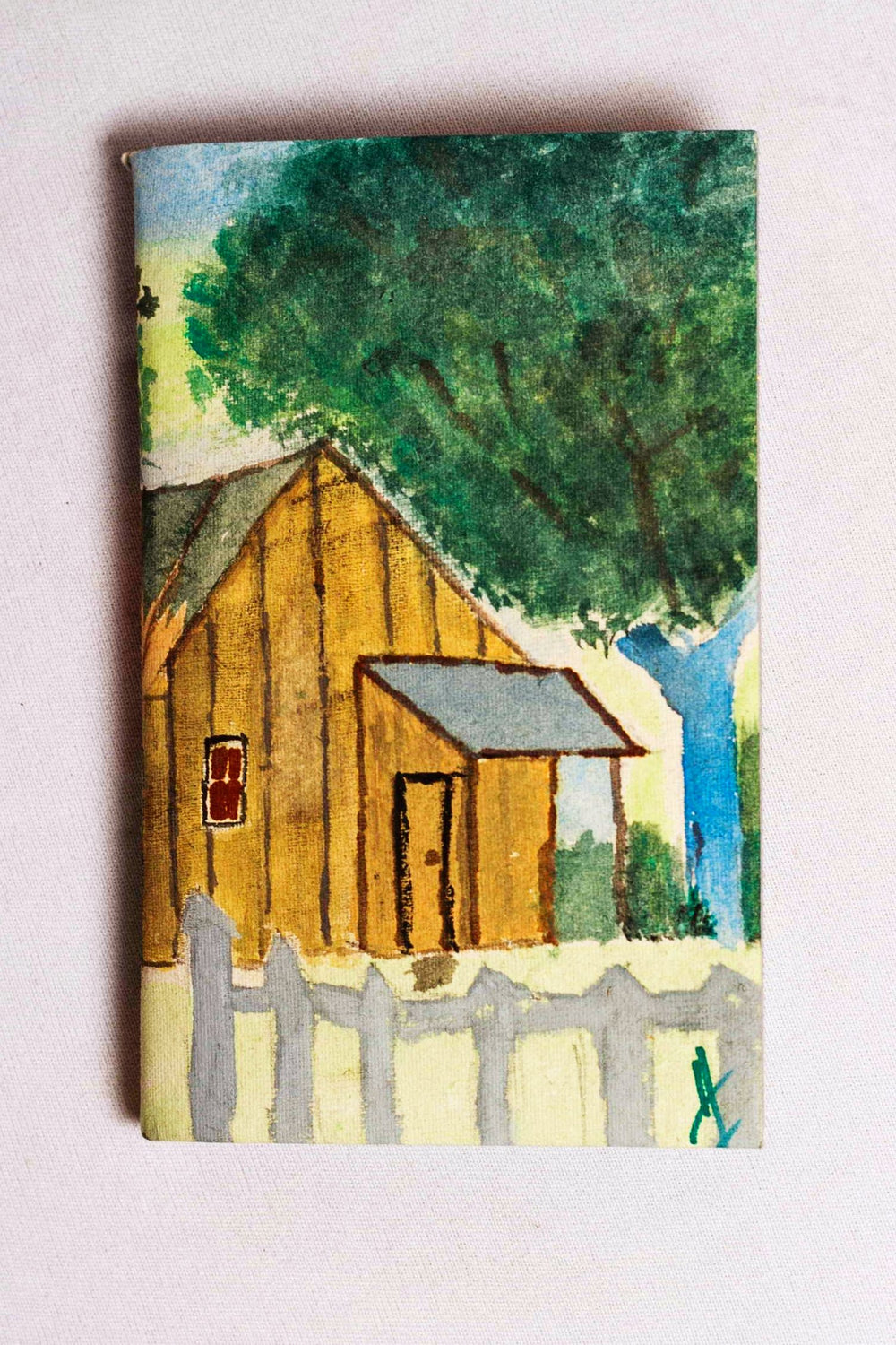 Hand painted scenery cover handmade paper notebook