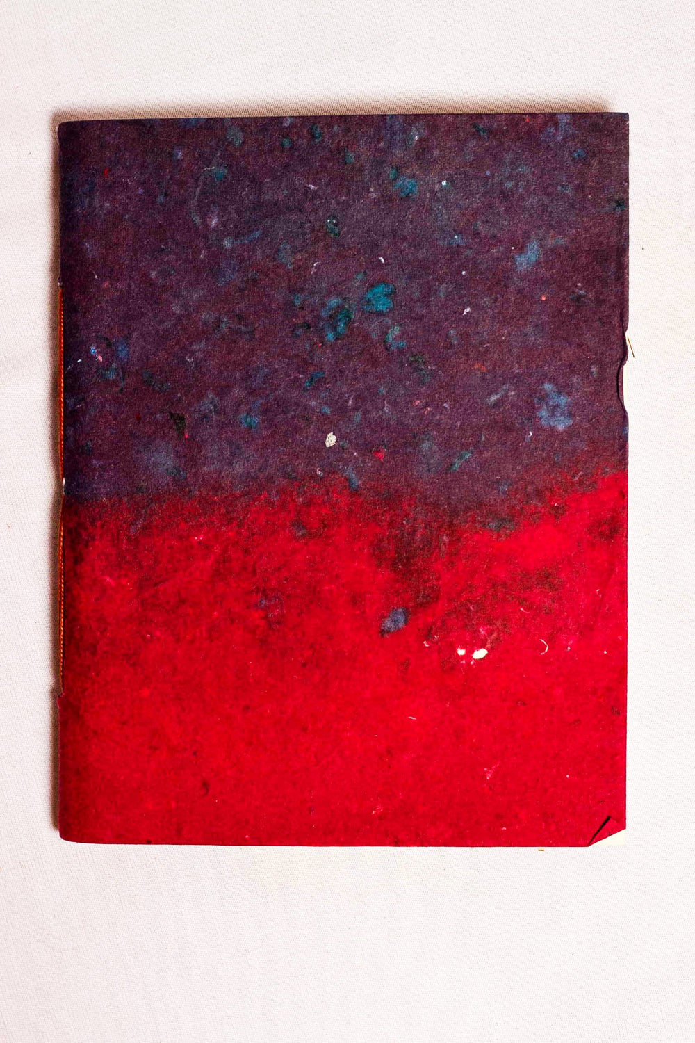 Gradient tie and dye effect covered handmade paper notebook
