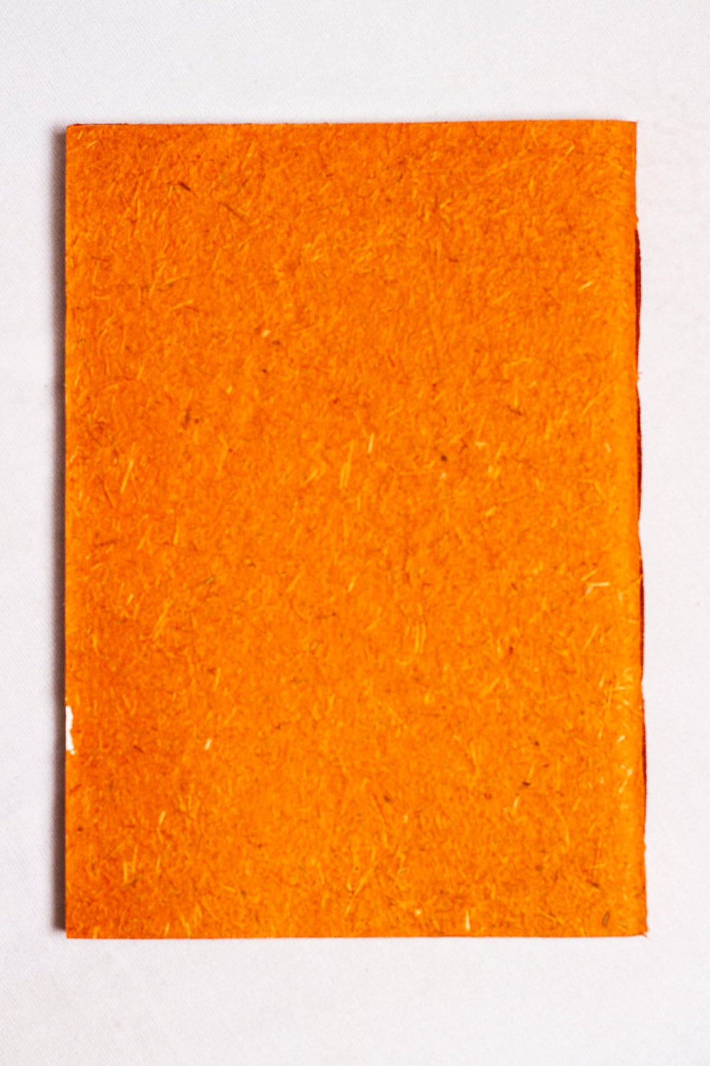 Sugarcane paper covered handmade paper notebook - orange