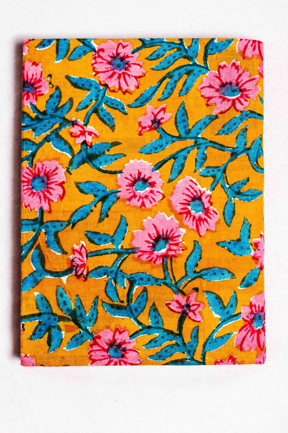 fabric covered handmade paper notebook