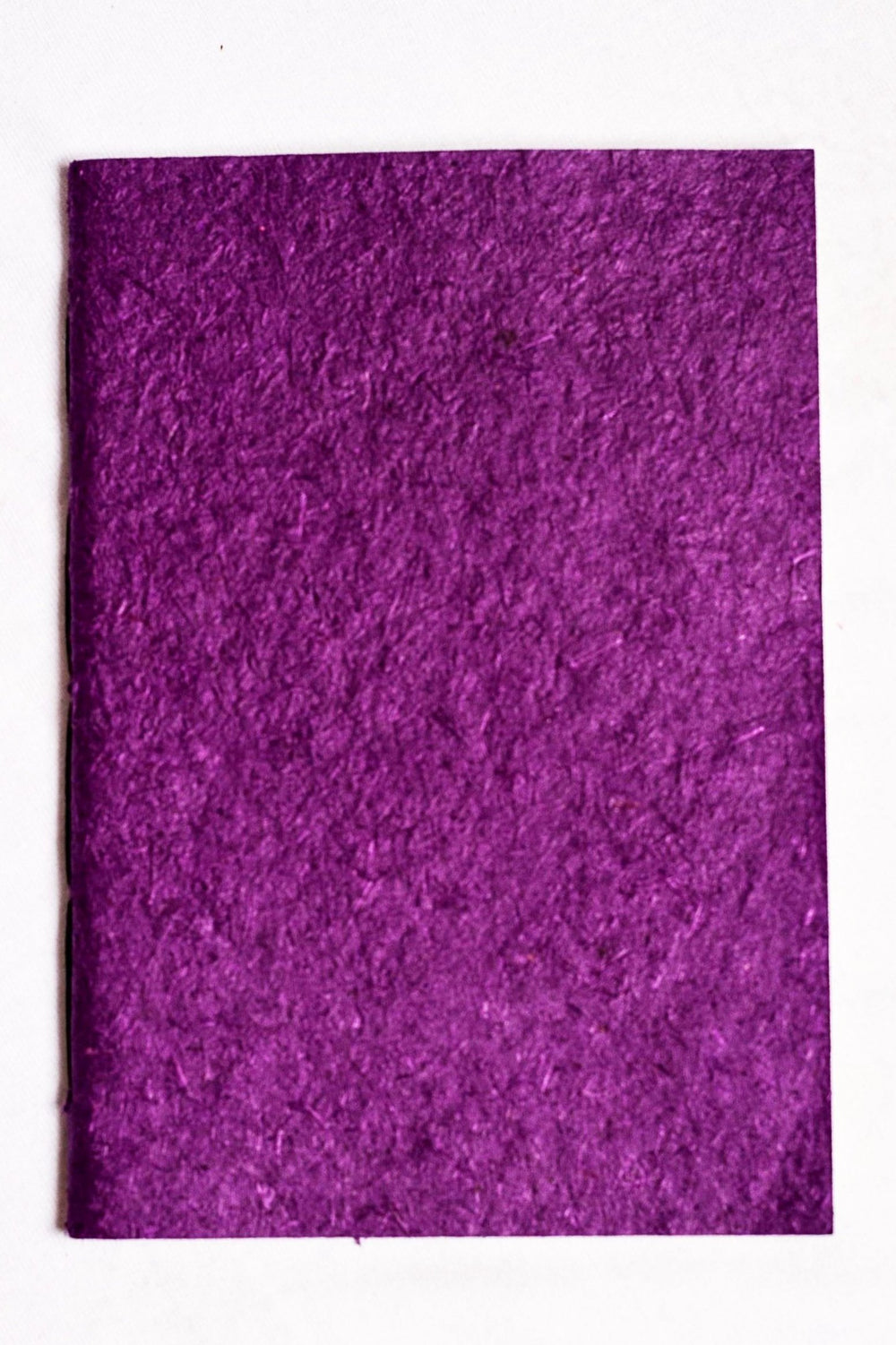 Sugarcane paper covered handmade paper notebook - purple