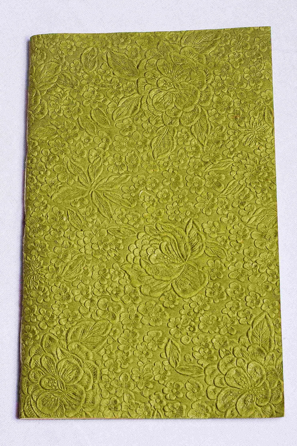 Screen Print cover with handmade paper notebook - large size