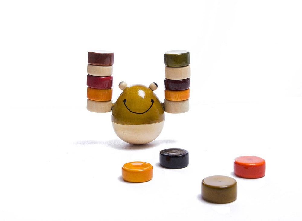 Froggy candy balancing and stacking channapatna toys
