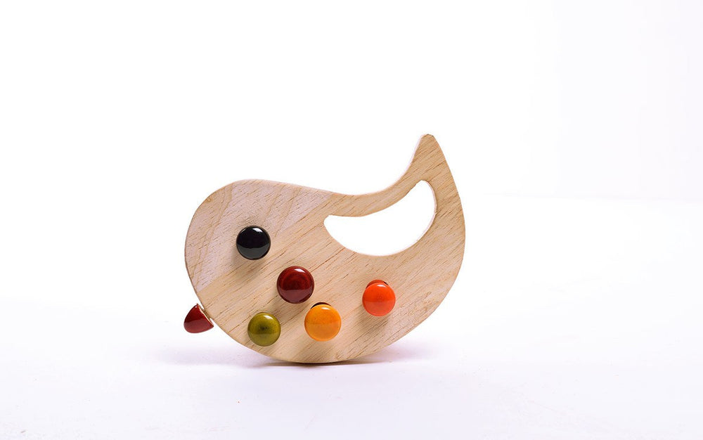 Minty Channapatna toys wooden baby rattle