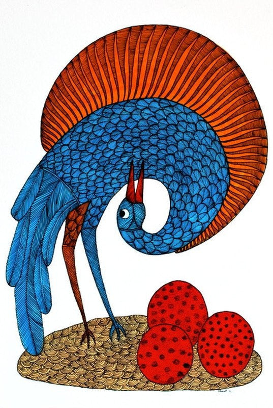 Bird series III gond art