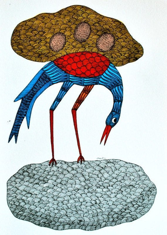 Bird series II Gond art