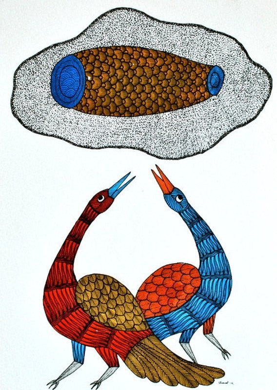 Bird series I Gond art