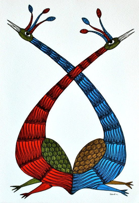 Bird series IV gond art
