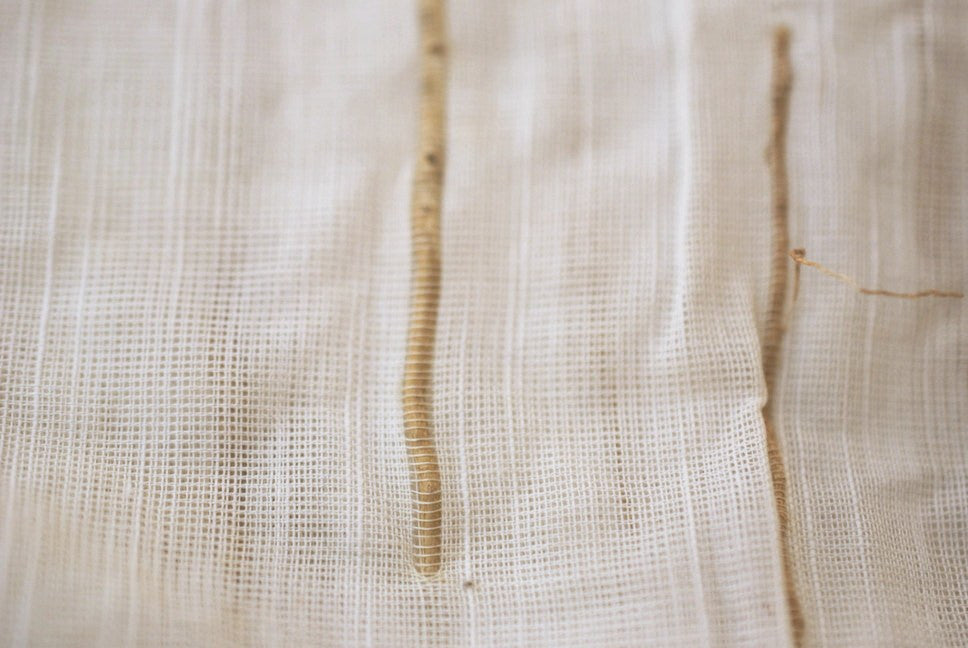 Blended Vetiver (khus) cotton fabric a