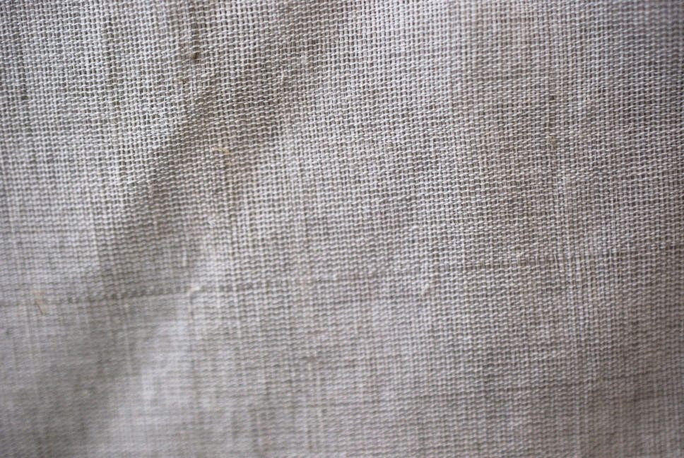 Natural linen unblended fabric c